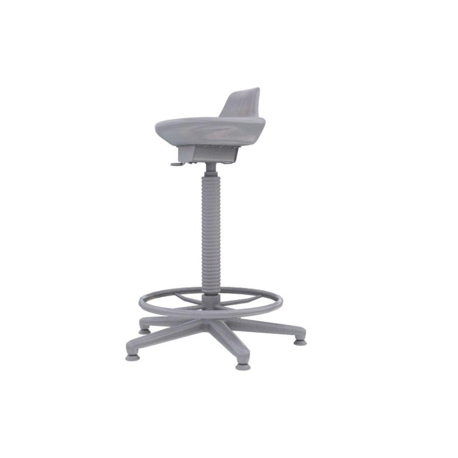 Krzesło kreślarskie / stołek royalty-free 3d model - Preview no. 8