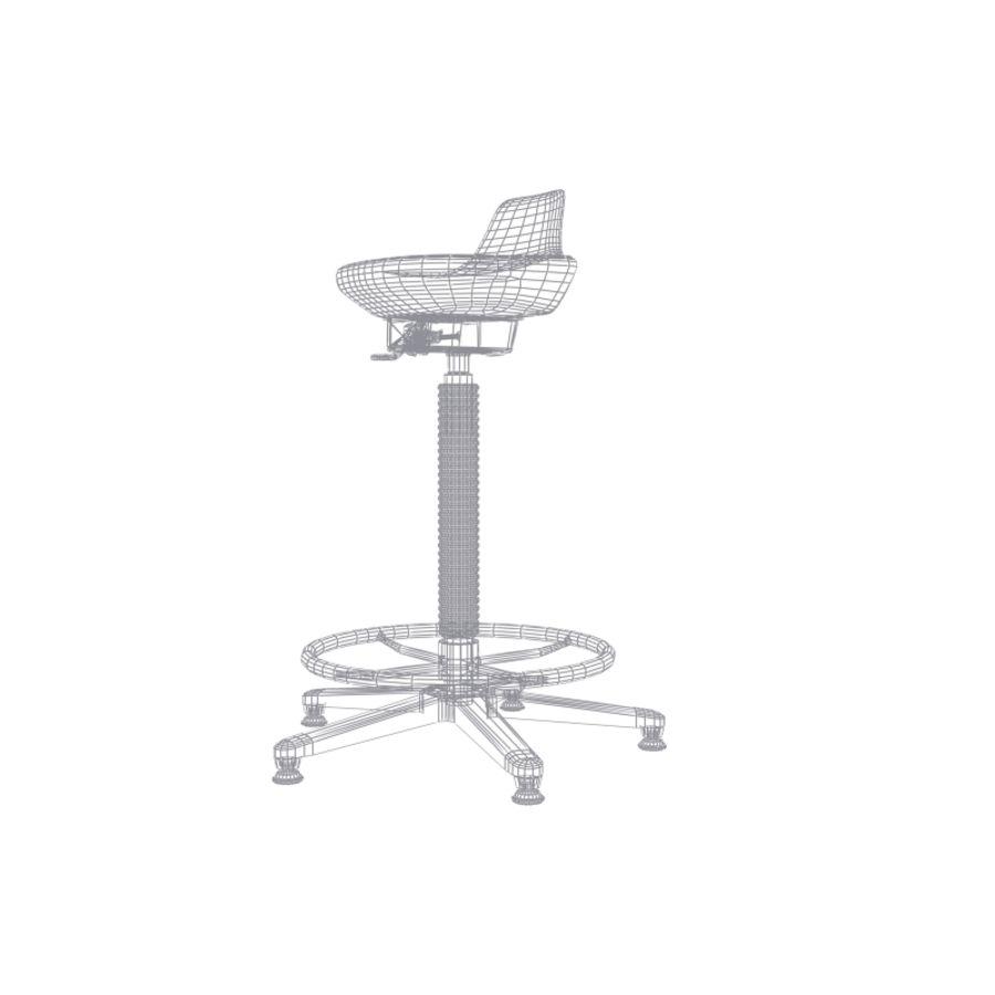Krzesło kreślarskie / stołek royalty-free 3d model - Preview no. 9