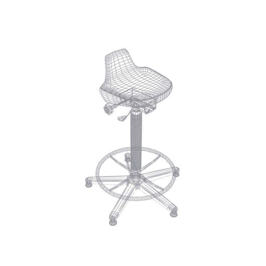 Krzesło kreślarskie / stołek royalty-free 3d model - Preview no. 11