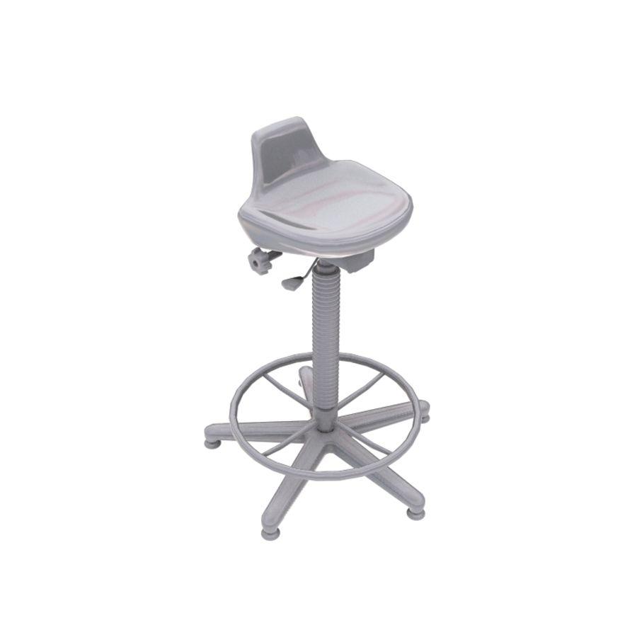 Krzesło kreślarskie / stołek royalty-free 3d model - Preview no. 10