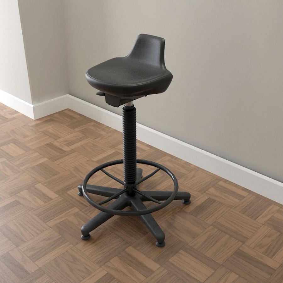 Krzesło kreślarskie / stołek royalty-free 3d model - Preview no. 1