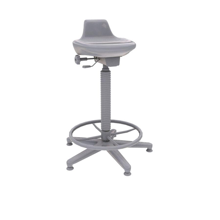 Krzesło kreślarskie / stołek royalty-free 3d model - Preview no. 6