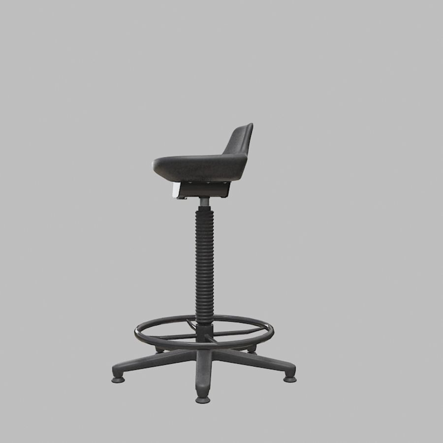Krzesło kreślarskie / stołek royalty-free 3d model - Preview no. 4