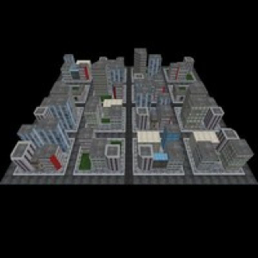 Downtown royalty-free 3d model - Preview no. 5