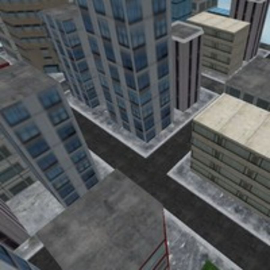 Downtown royalty-free 3d model - Preview no. 6