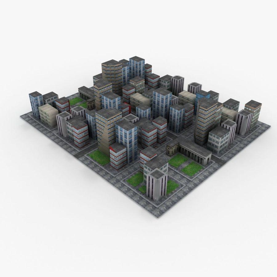 Downtown royalty-free 3d model - Preview no. 1