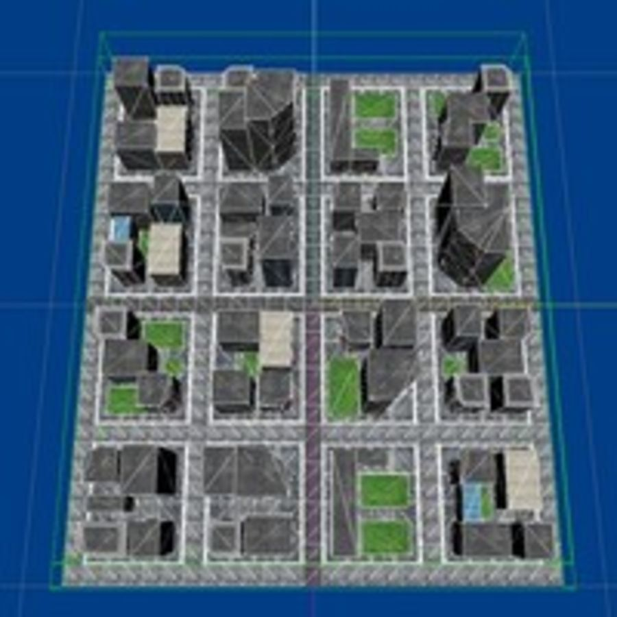 Downtown royalty-free 3d model - Preview no. 9