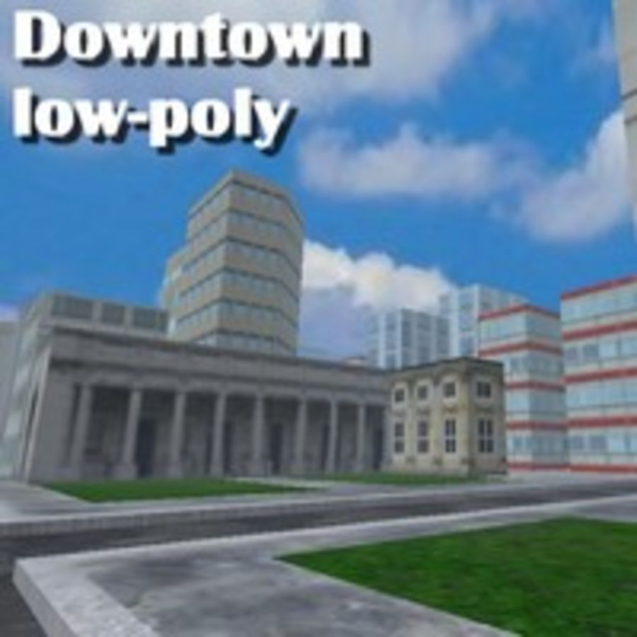 Downtown royalty-free 3d model - Preview no. 2