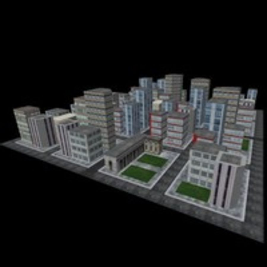 Downtown royalty-free 3d model - Preview no. 3