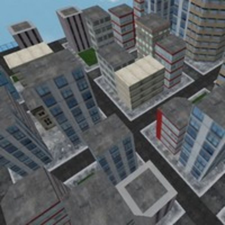 Downtown royalty-free 3d model - Preview no. 7