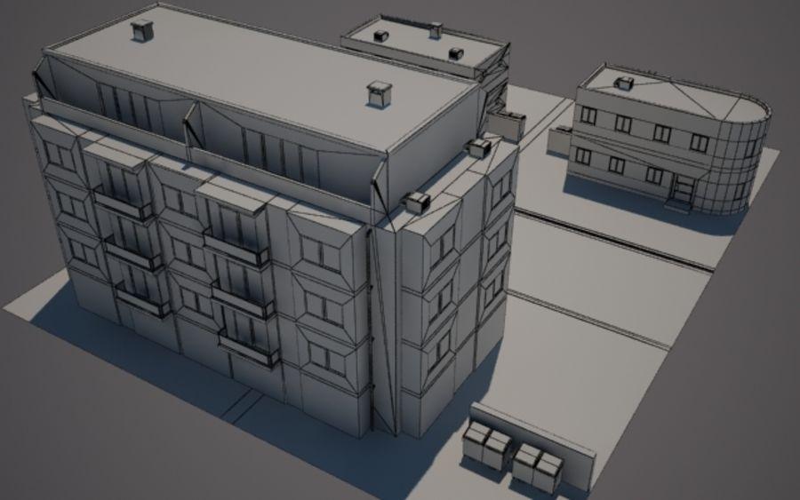 Calle de la ciudad n02 royalty-free modelo 3d - Preview no. 8