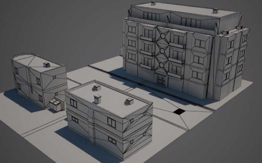Городская улица N02 royalty-free 3d model - Preview no. 7