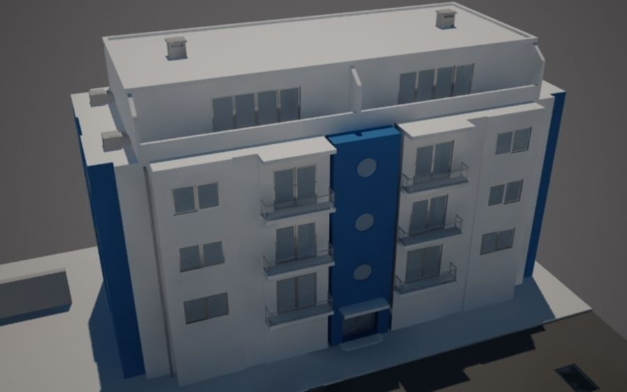 Городская улица N02 royalty-free 3d model - Preview no. 5