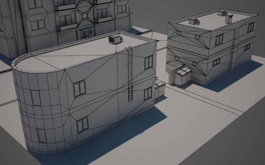Городская улица N02 royalty-free 3d model - Preview no. 10