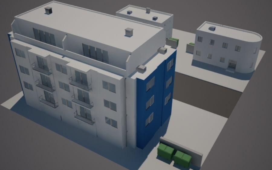 Городская улица N02 royalty-free 3d model - Preview no. 4