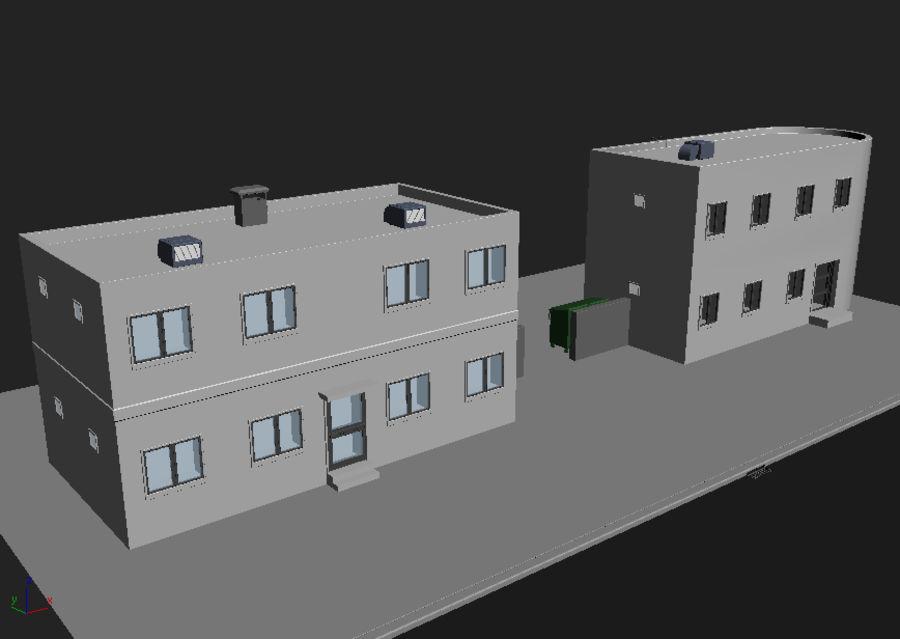 Городская улица N02 royalty-free 3d model - Preview no. 13
