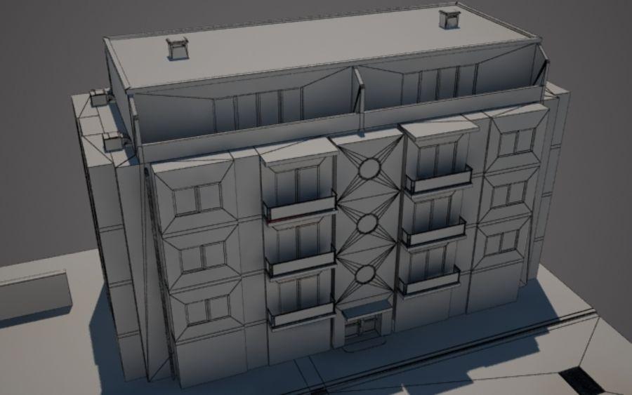 Городская улица N02 royalty-free 3d model - Preview no. 9