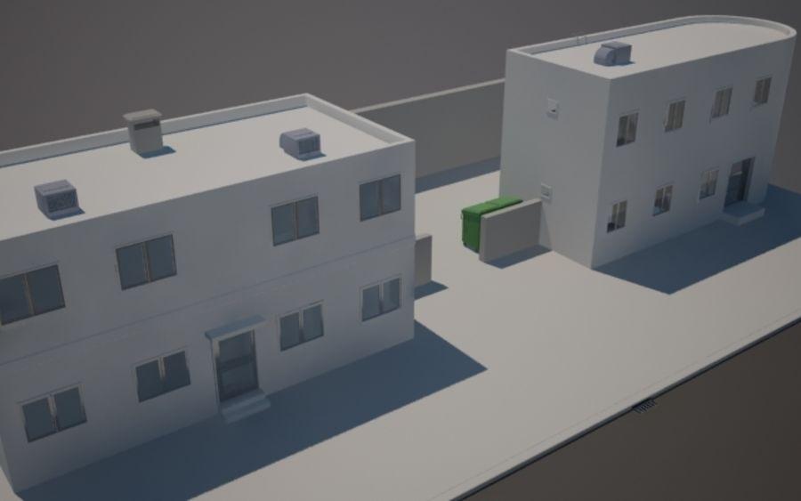 Городская улица N02 royalty-free 3d model - Preview no. 3