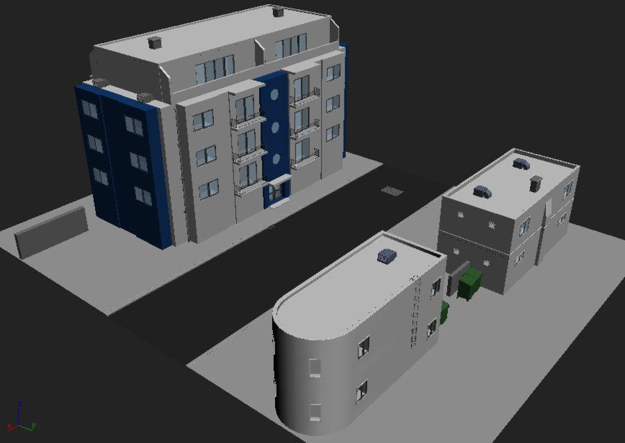 Городская улица N02 royalty-free 3d model - Preview no. 12
