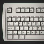键盘复古 3d model
