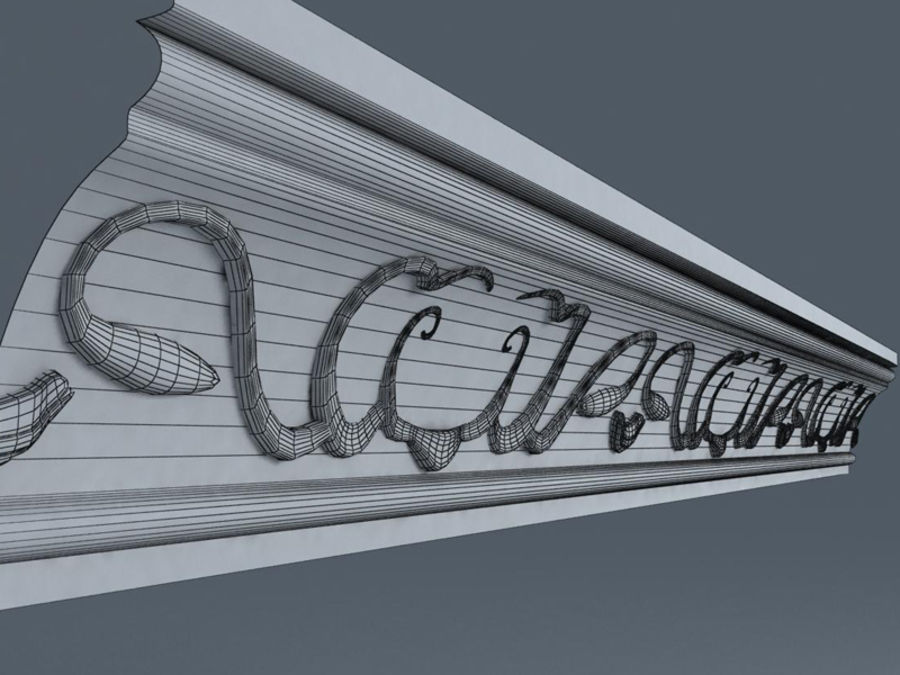 Molding royalty-free 3d model - Preview no. 4