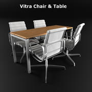 Vitra Chair & Table 3d model