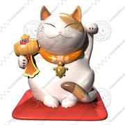 gato modelo 3d