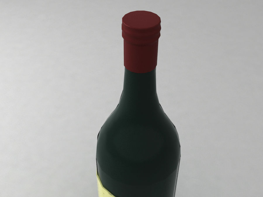 Bottiglia di vino royalty-free 3d model - Preview no. 5