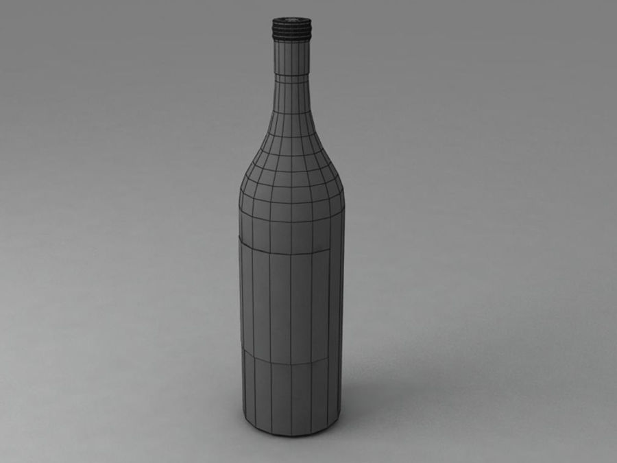 와인 병 royalty-free 3d model - Preview no. 3