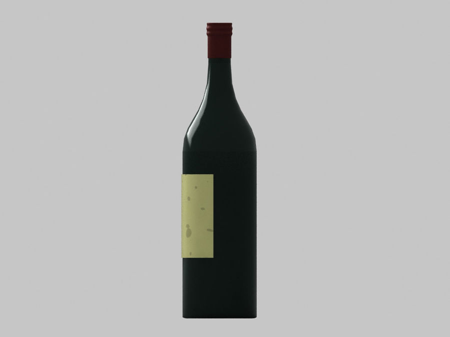 Bottiglia di vino royalty-free 3d model - Preview no. 4