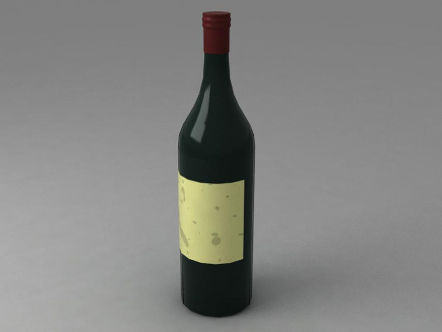 Bottiglia di vino royalty-free 3d model - Preview no. 1