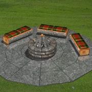 FR Fire Pit 3d model