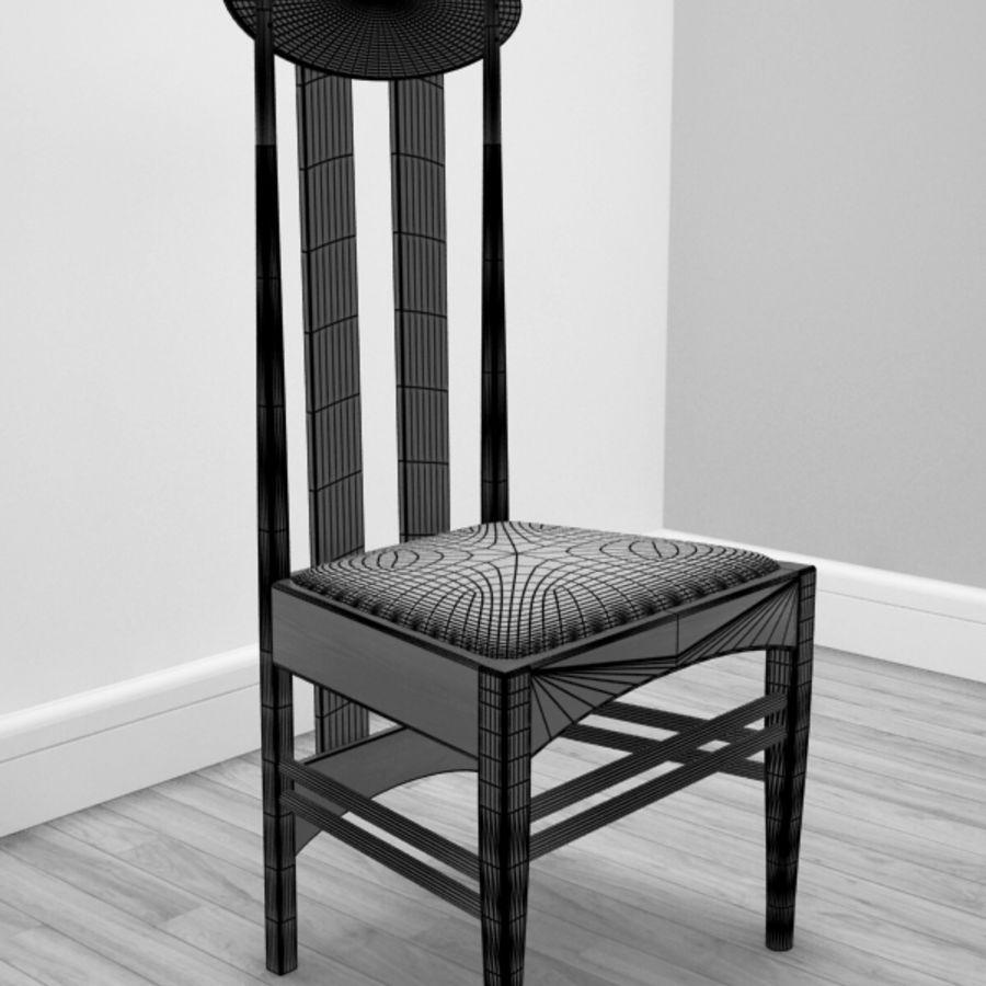 CR Mackintosh yan koltuğu royalty-free 3d model - Preview no. 2