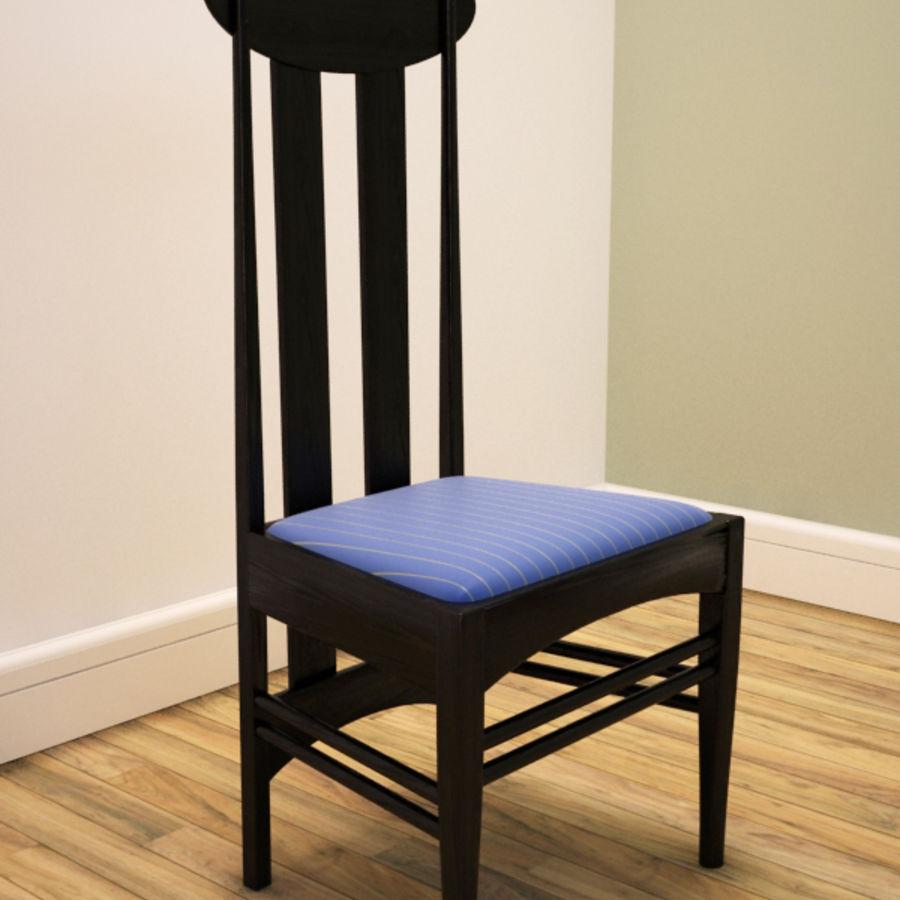 CR Mackintosh yan koltuğu royalty-free 3d model - Preview no. 3