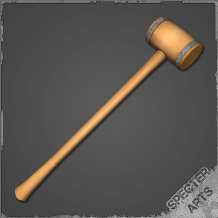 Wooden Mallet royalty-free 3d model - Preview no. 1