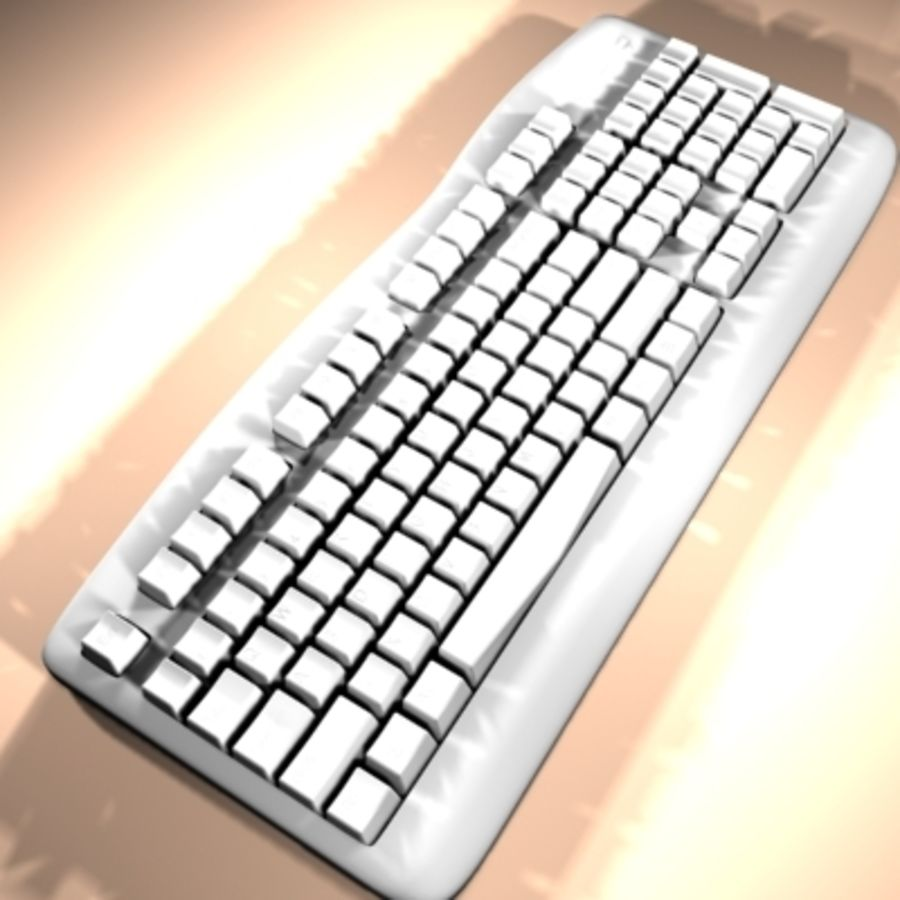keyboard royalty-free 3d model - Preview no. 2