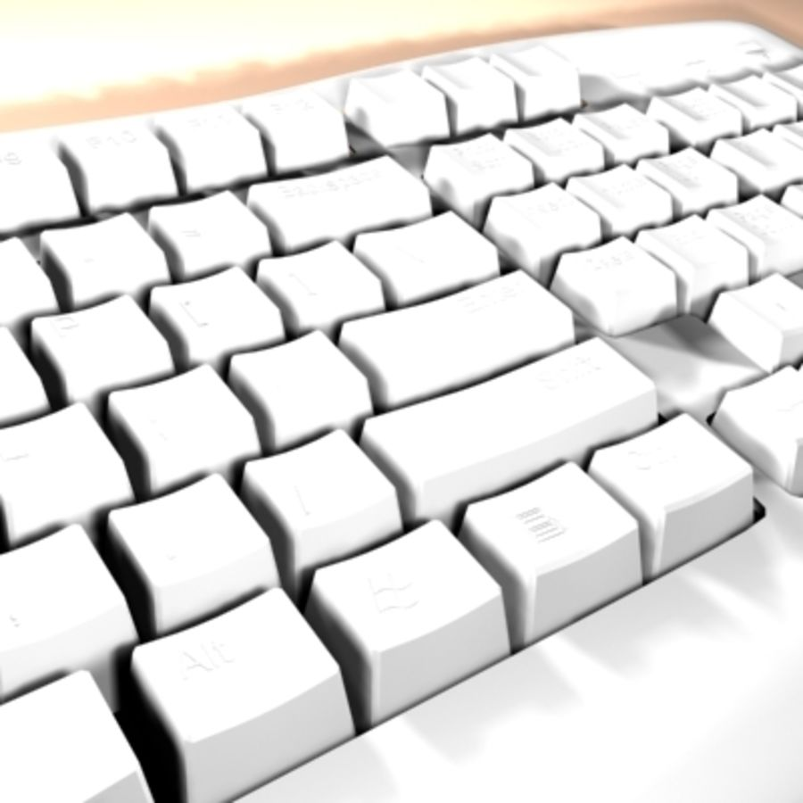 keyboard royalty-free 3d model - Preview no. 7
