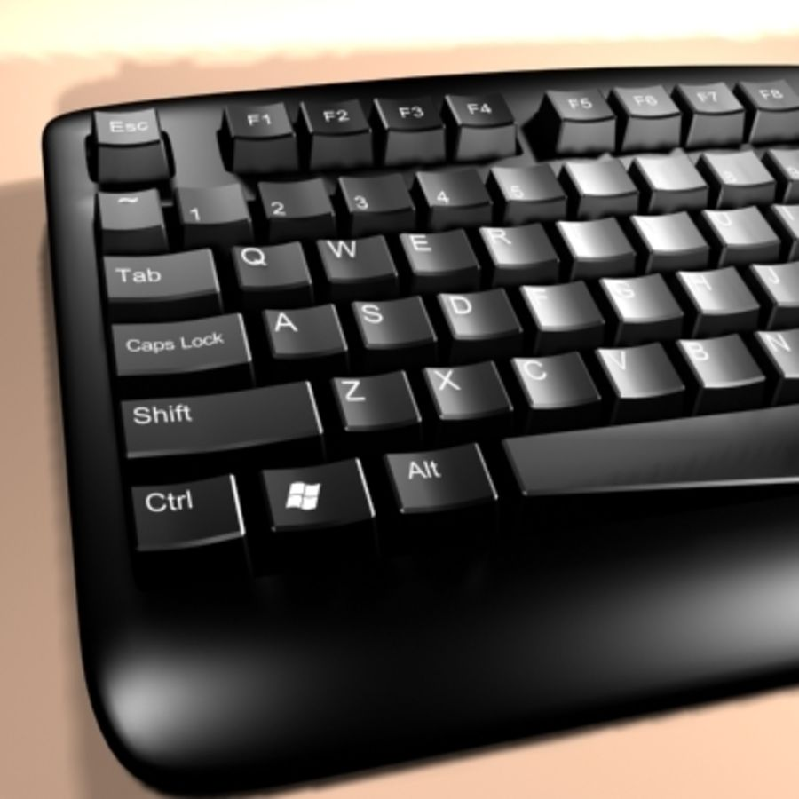 keyboard royalty-free 3d model - Preview no. 4