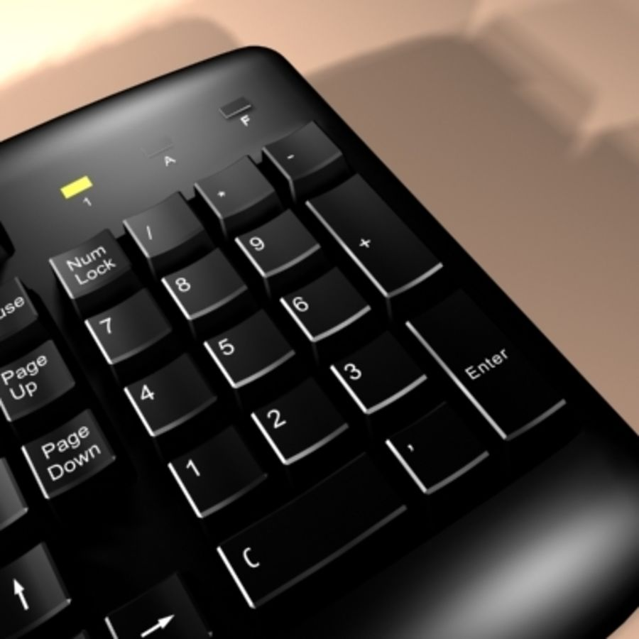 keyboard royalty-free 3d model - Preview no. 8