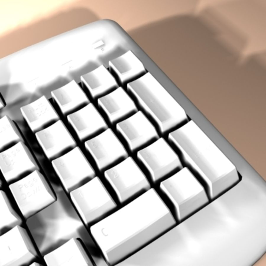 keyboard royalty-free 3d model - Preview no. 9