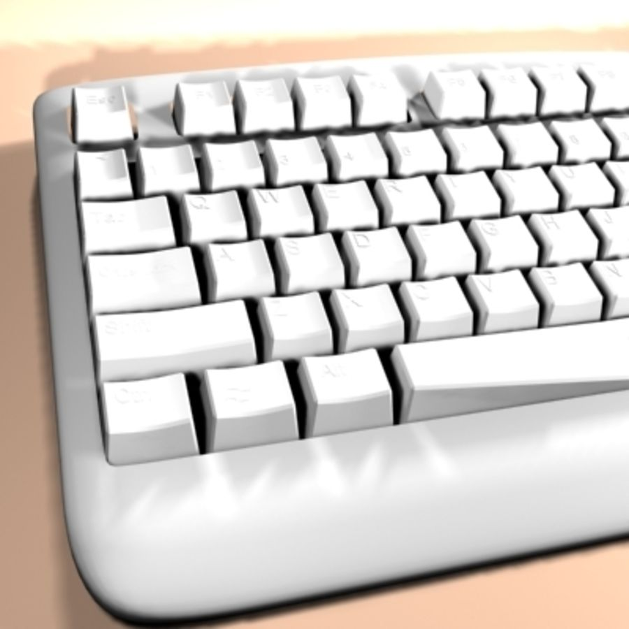 keyboard royalty-free 3d model - Preview no. 5
