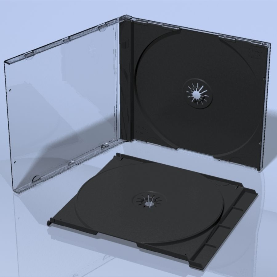 CD Case royalty-free 3d model - Preview no. 3