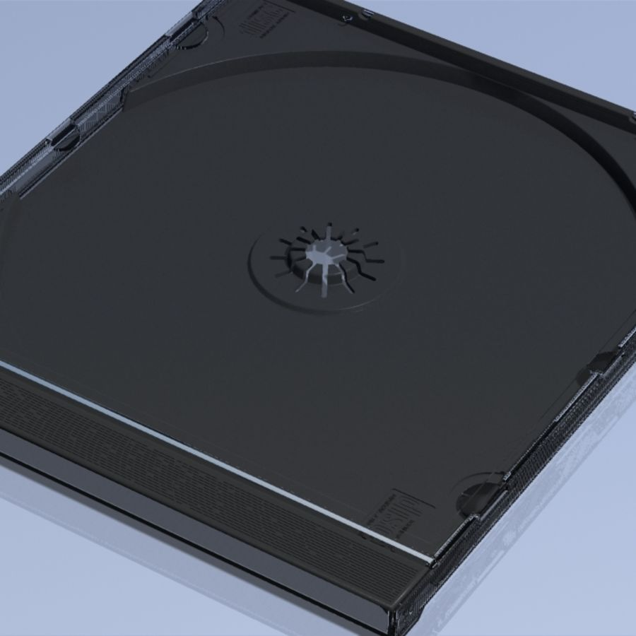 CD Case royalty-free 3d model - Preview no. 1
