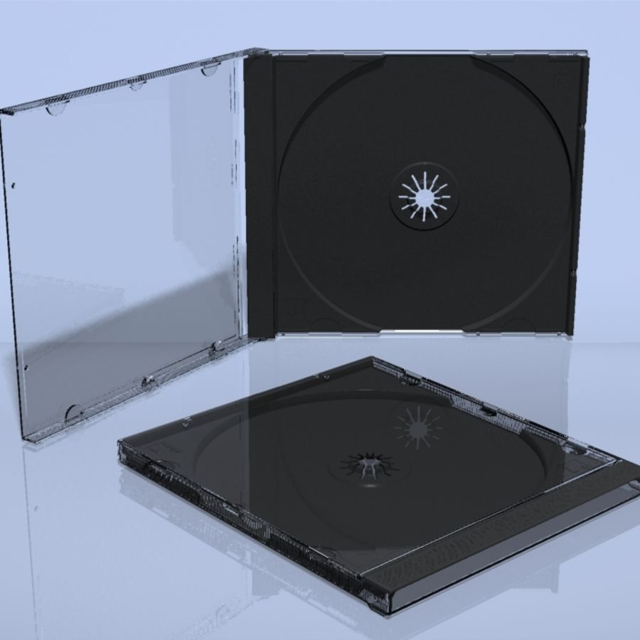 CD Case royalty-free 3d model - Preview no. 5
