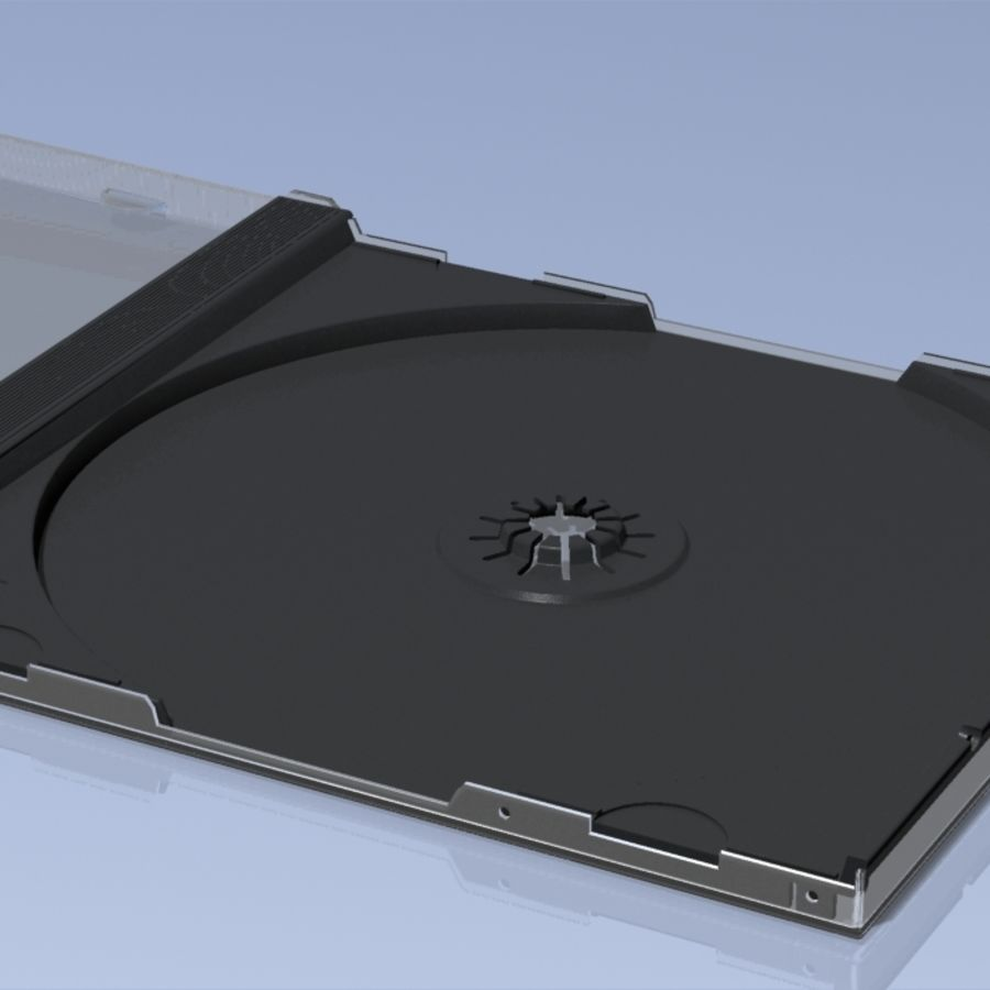 CD Case royalty-free 3d model - Preview no. 2