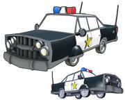 Coche de policía modelo 3d