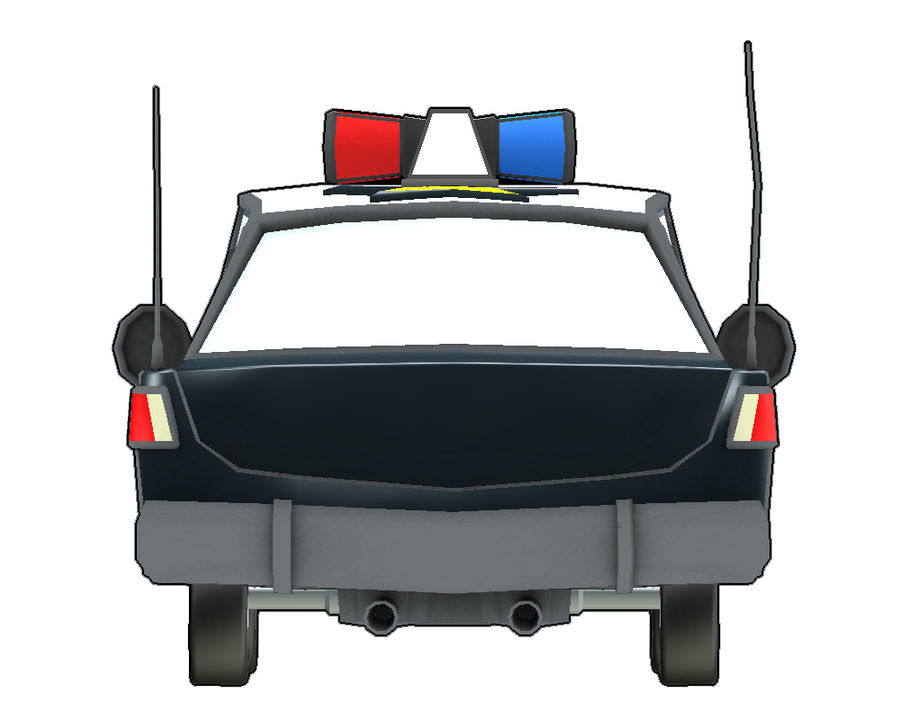 Politieauto royalty-free 3d model - Preview no. 5