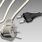 Enchufe electrico modelo 3d