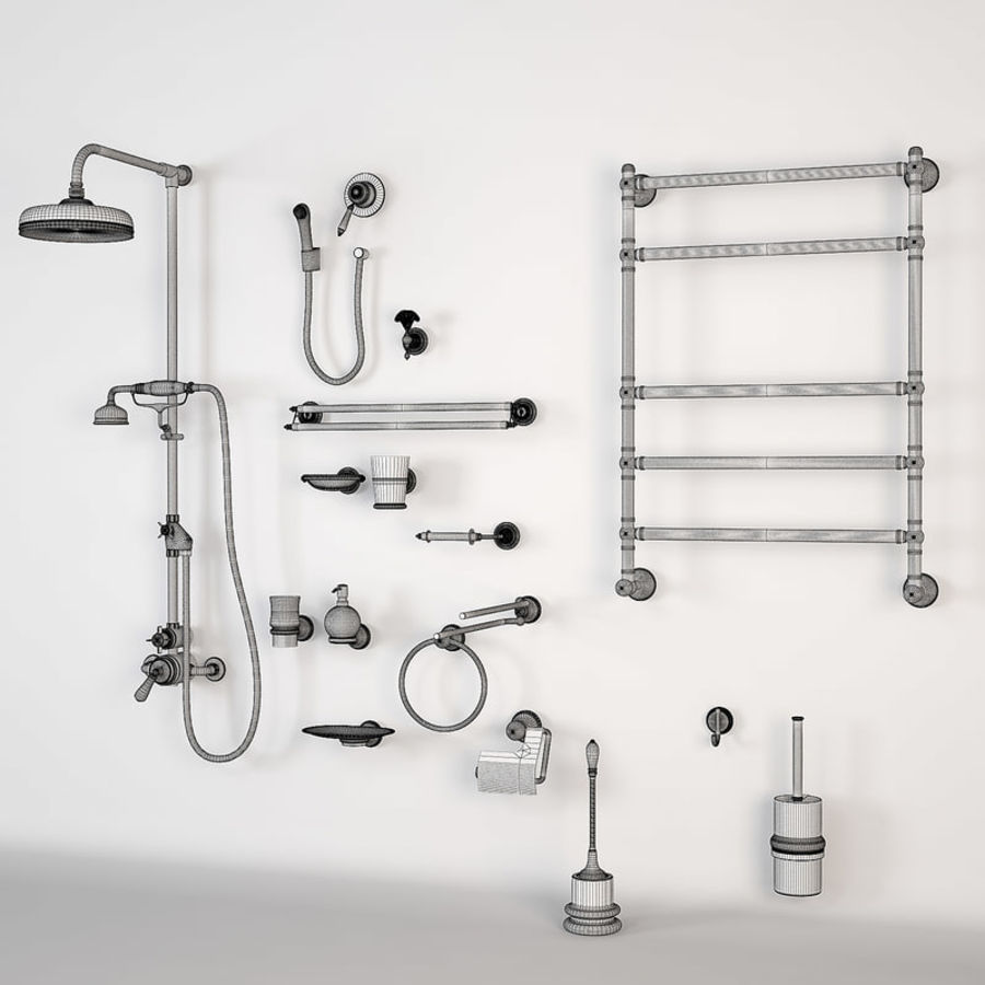 Bathroom Accessory royalty-free 3d model - Preview no. 5
