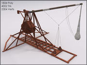 Trebuchet, Textured, Low Poly 3d model